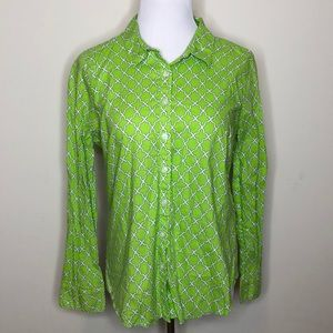crown & ivy Tops - Crown & Ivy Green Button down Top (186)